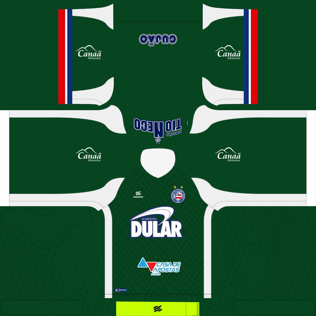 Bahia GK Home Kits Kits Bahia 2019 2020