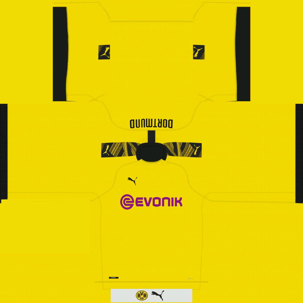 Borussia Dortmund Home Kits Kits 8211 Borussia Dortmund 8211 19 20