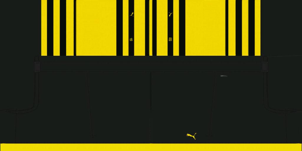 Borussia Dortmund Home Shorts Kits 8211 Borussia Dortmund 8211 19 20