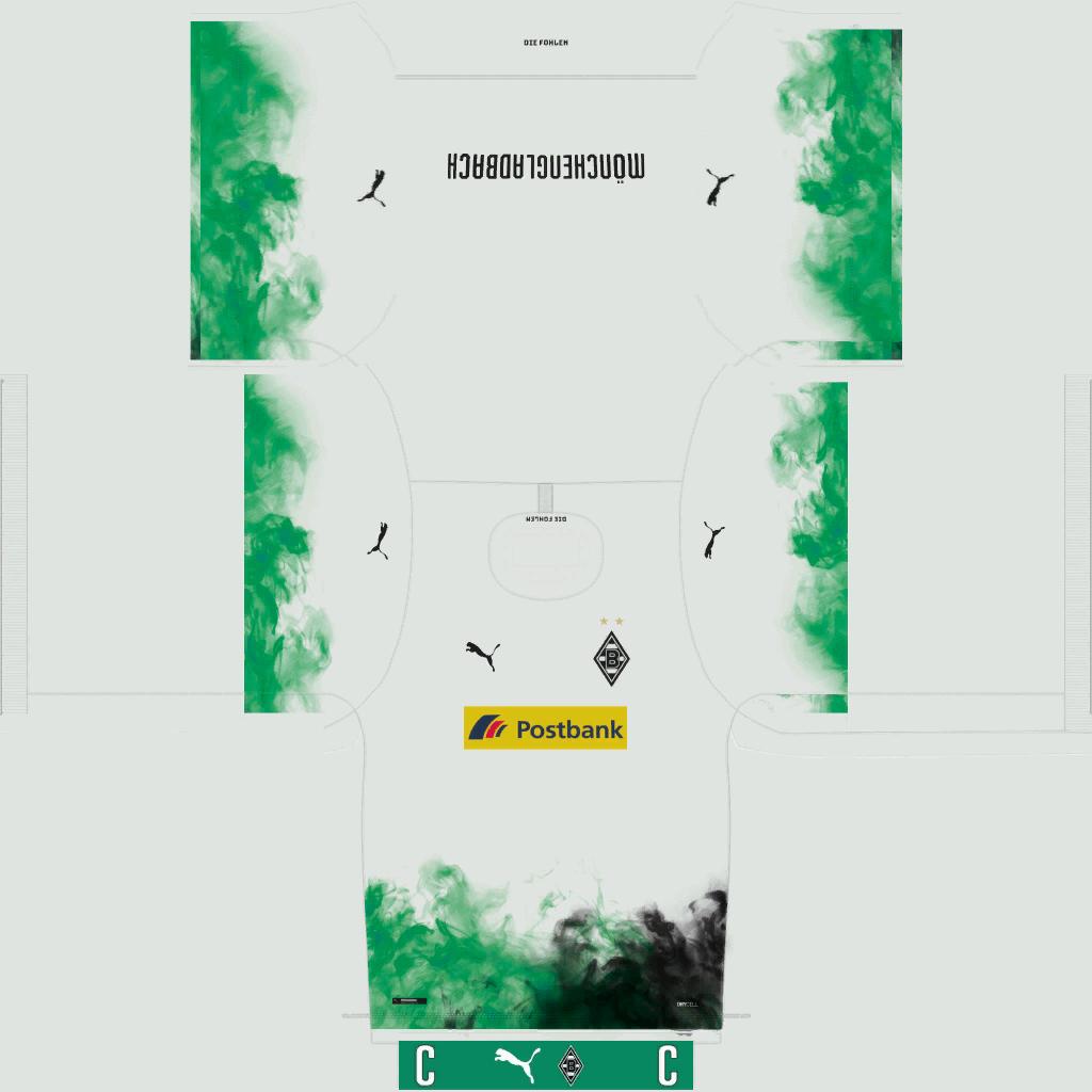 Borussia M Nchengladbach Home Kits Kits 8211 Borussia M Nchengladbach 8211 19 20