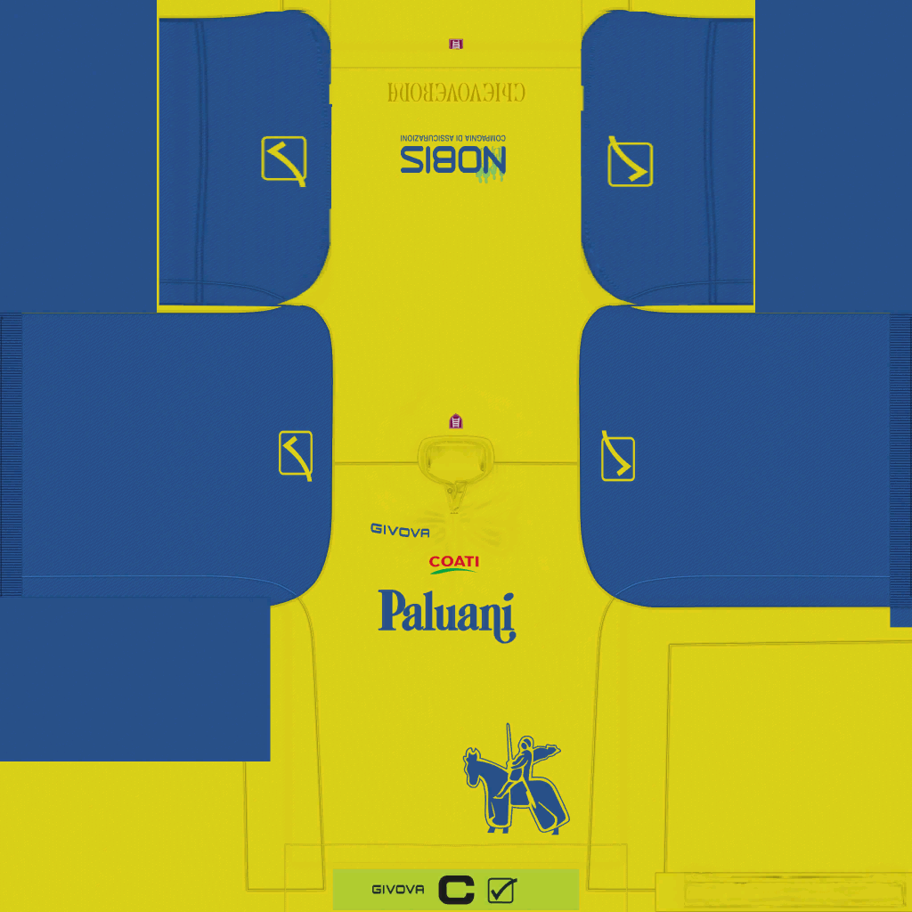 Chievo Verona Home Kits Kits 8211 Chievo Verona 8211 19 20