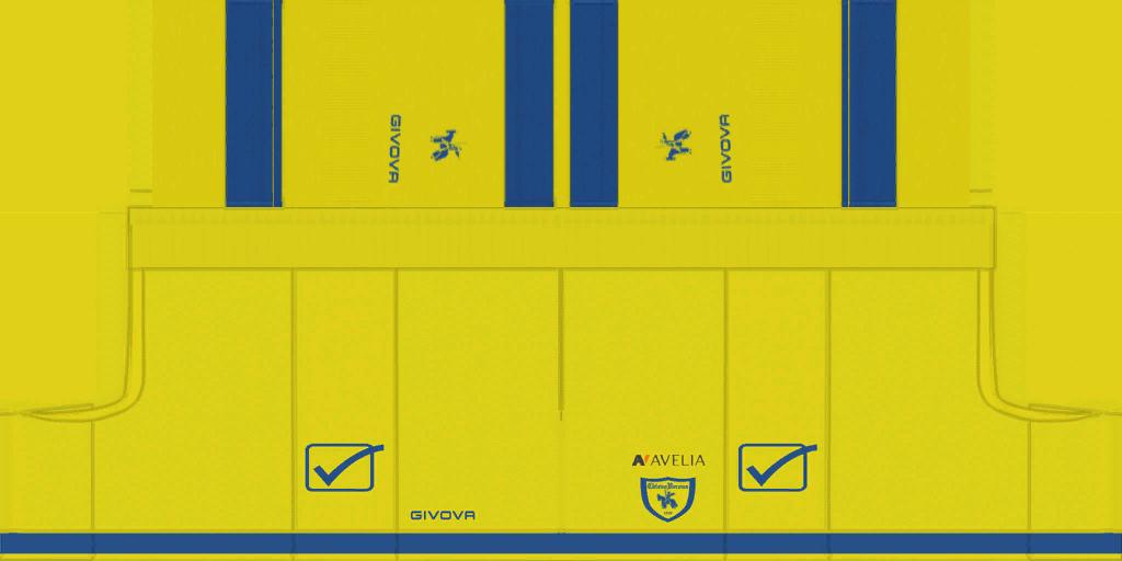 Chievo Verona Home Shorts Kits 8211 Chievo Verona 8211 19 20