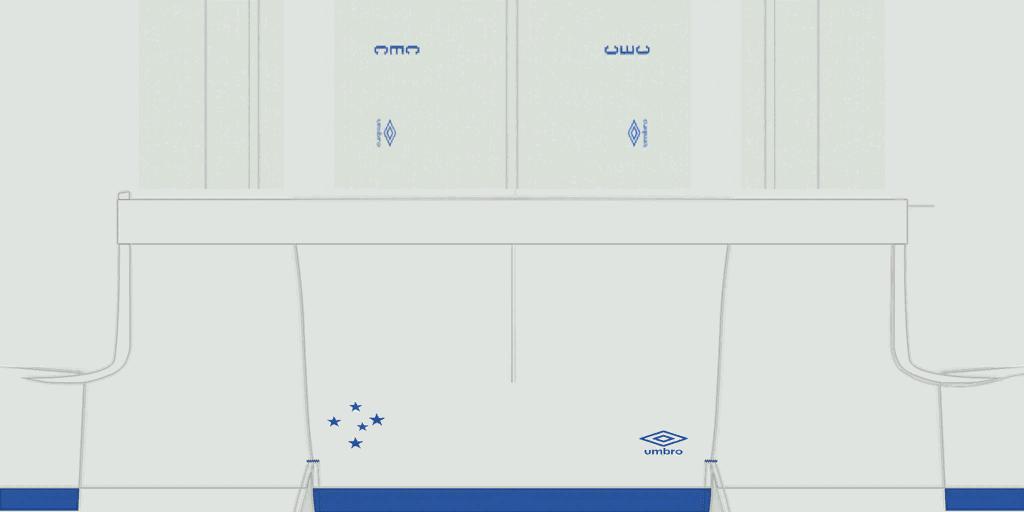 Cruzeiro Home Shorts Kits Cruzeiro 2019 2020