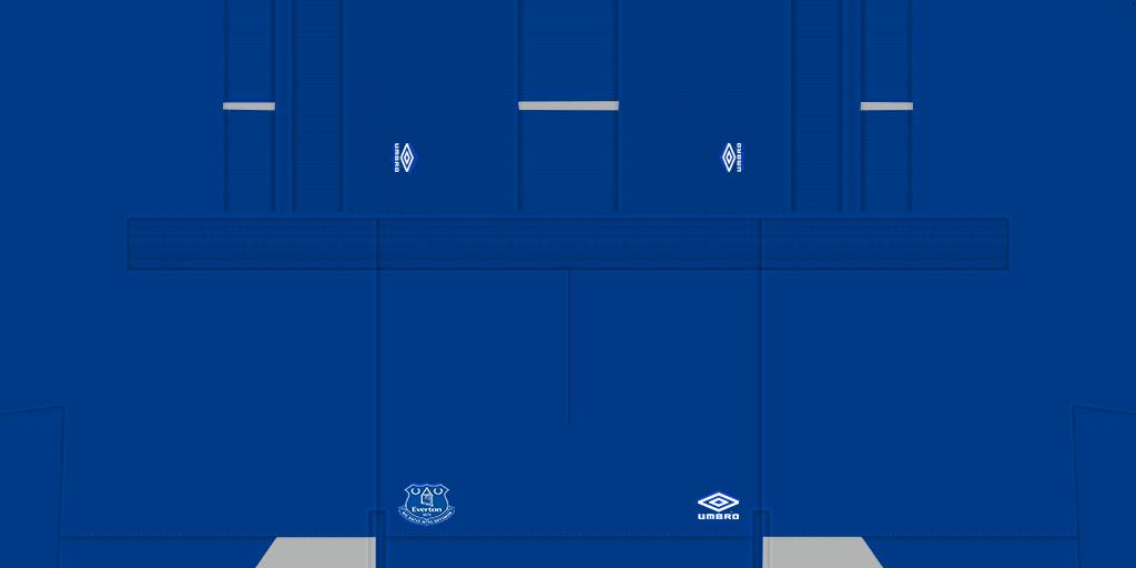 Everton Home Shorts 2 Kits 8211 Everton 8211 19 20 RX3 GK Kits Added