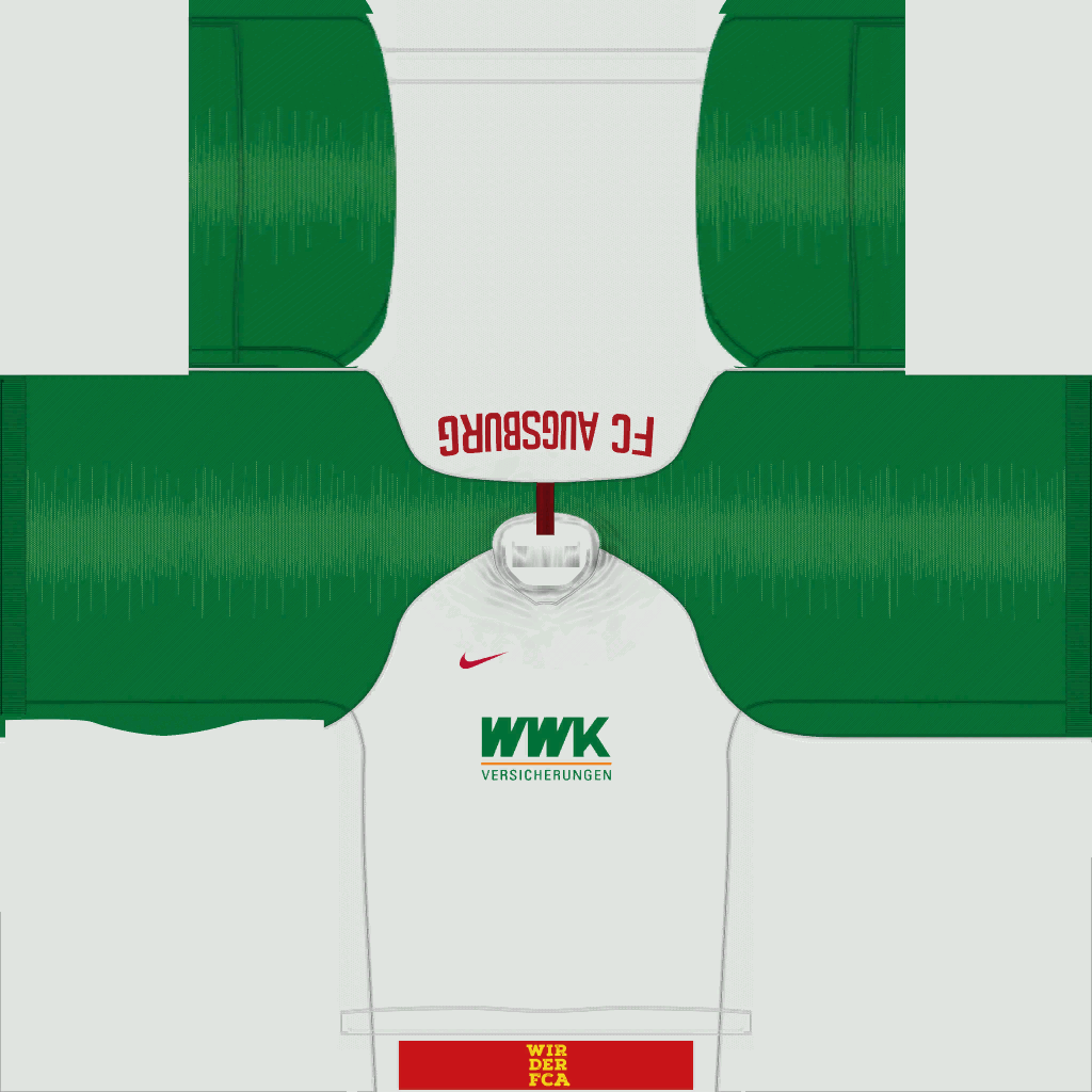 FC Augsburg Home Kits Kits 8211 FC Augsburg 8211 19 20