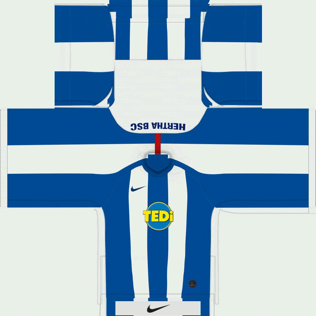 Hertha BSC Home Kits Kits 8211 Hertha BSC Berlin 8211 19 20
