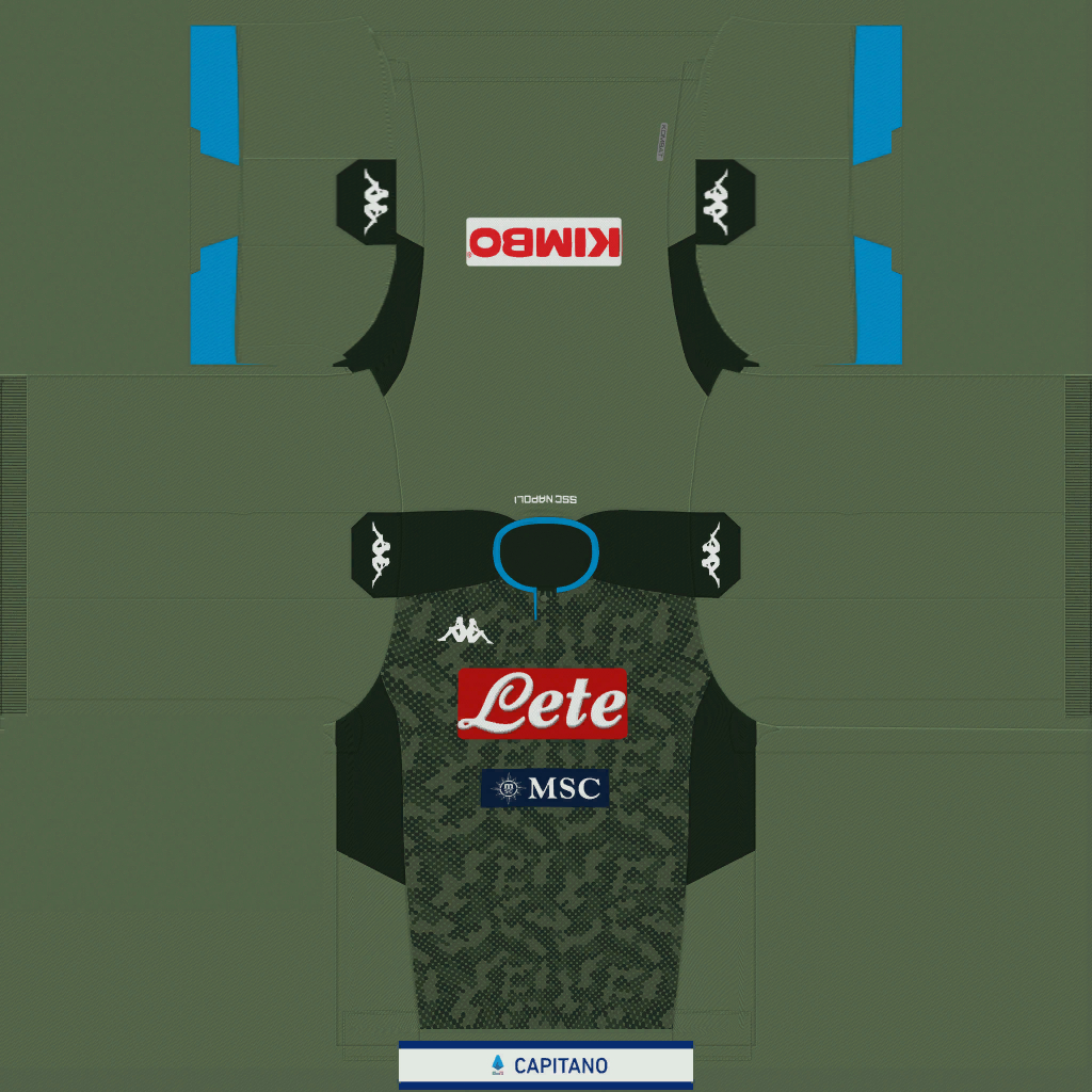 Napoli Away Kit Kits Napoli 2019 2020