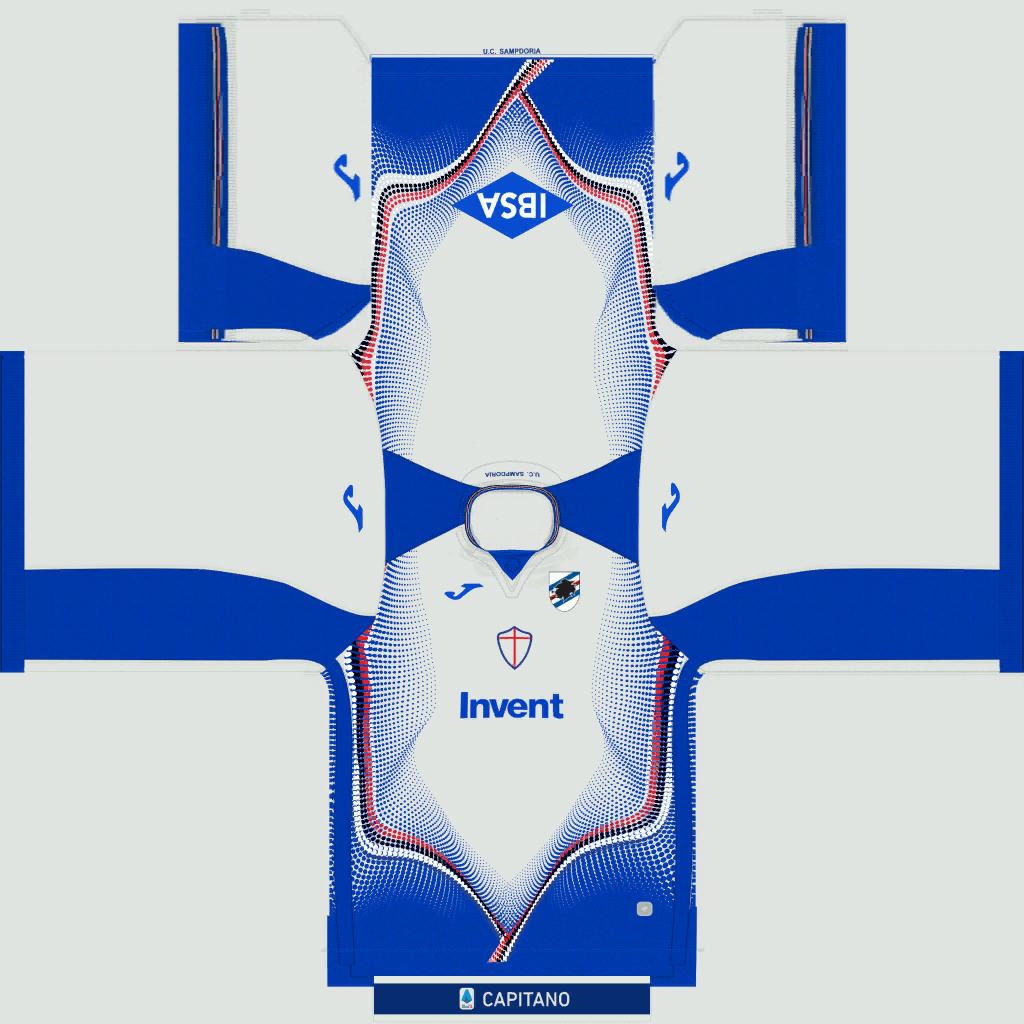Sampdoria Away Kit Kits Sampdoria 2019 2020