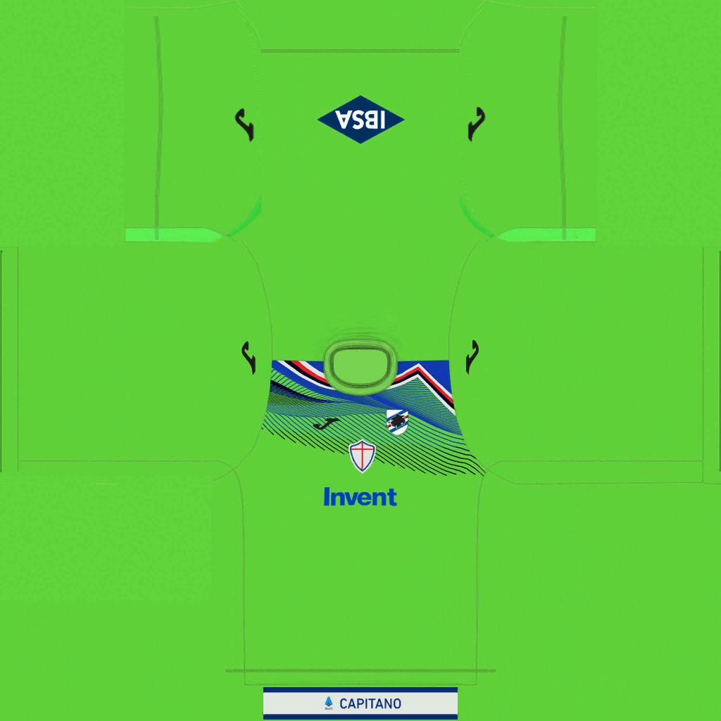 Sampdoria GK Kit Kits Sampdoria 2019 2020