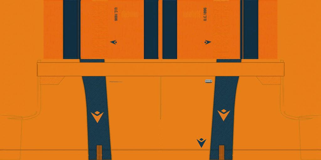 Udinese Away Shorts Kits Udinese 2019 2020