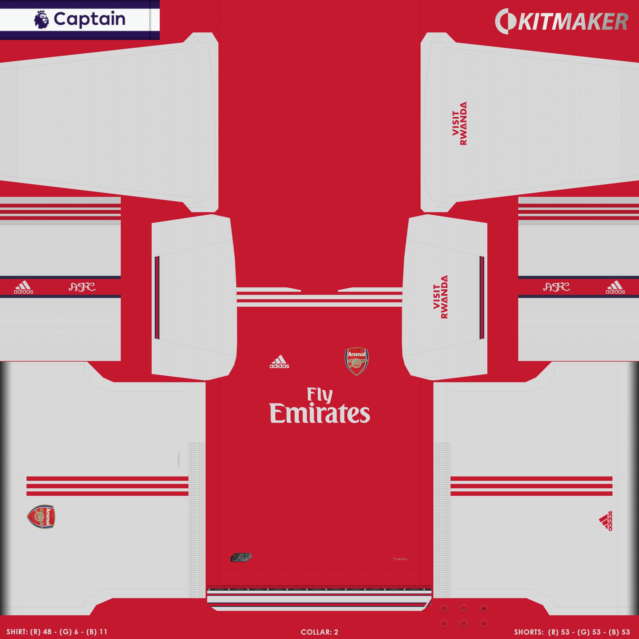 ENG 1 ARS 1 PES Premier League Kits Pack 2019 2020