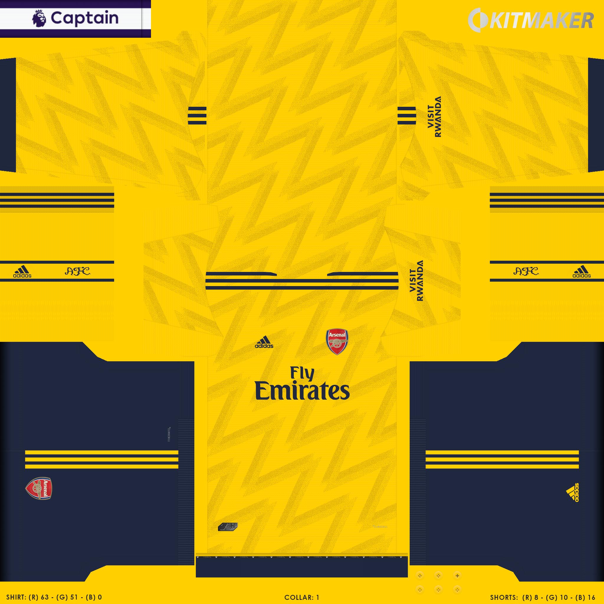 ENG 1 ARS 2 PES Premier League Kits Pack 2019 2020