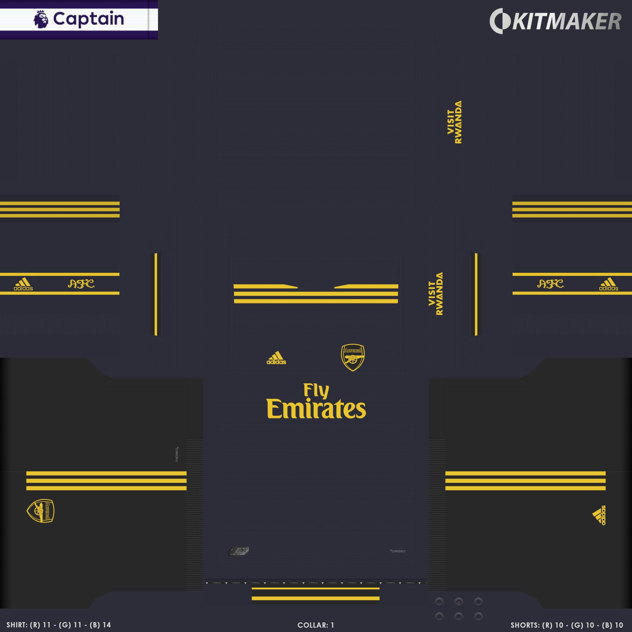 ENG 1 ARS 3 PES Premier League Kits Pack 2019 2020