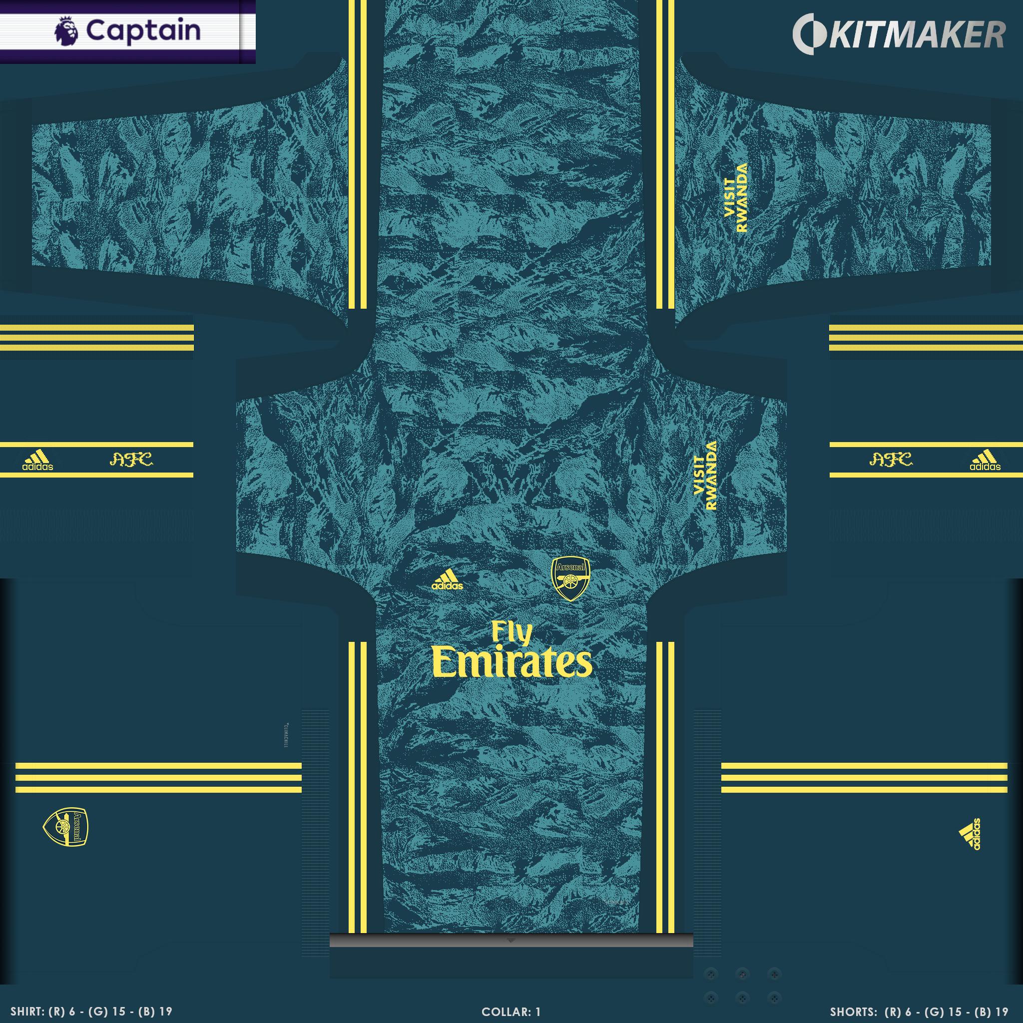 ENG 1 ARS 4 PES Premier League Kits Pack 2019 2020