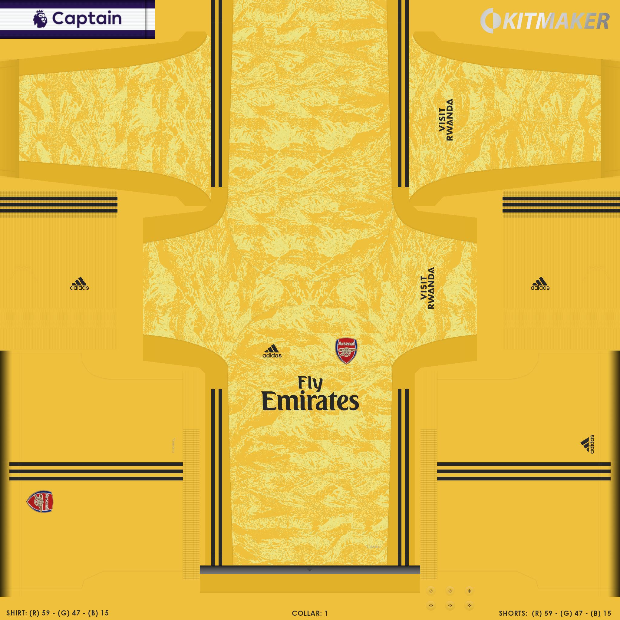 ENG 1 ARS 6 PES Premier League Kits Pack 2019 2020