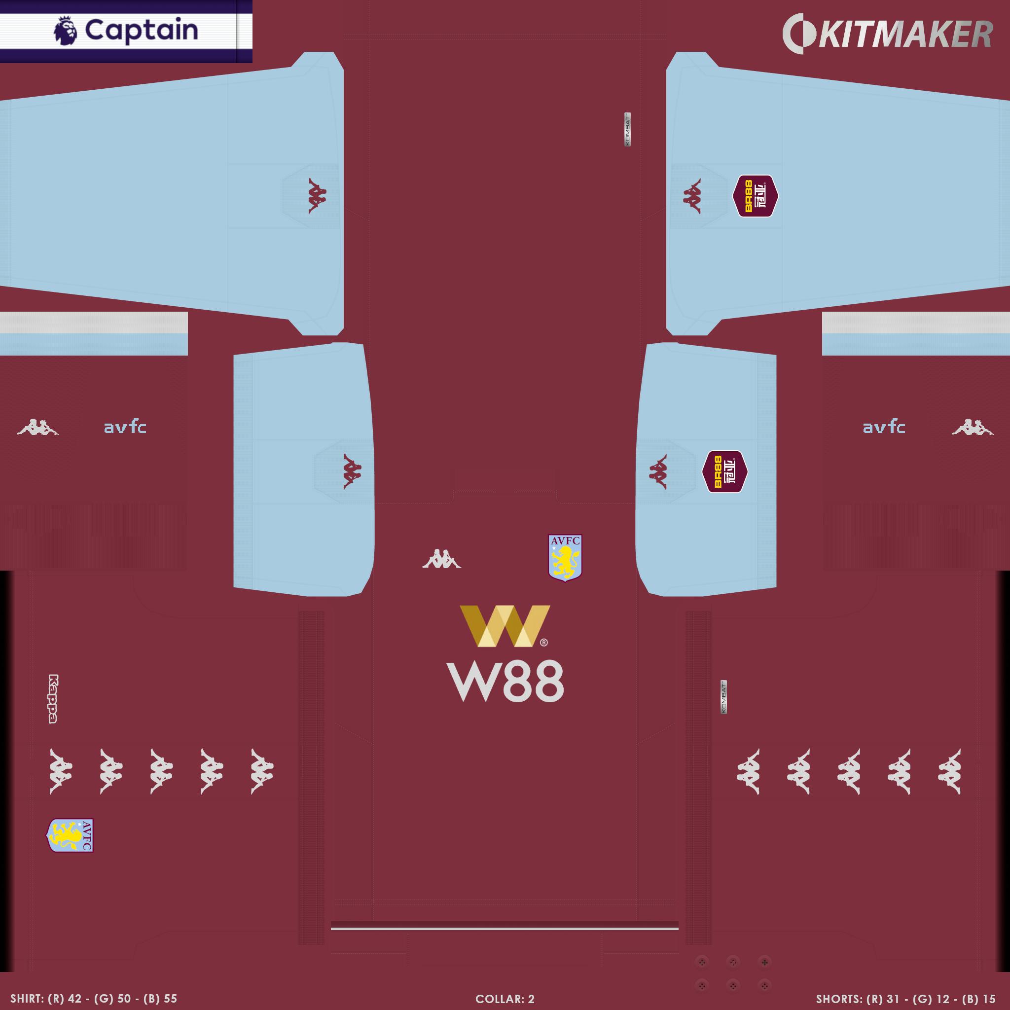 ENG 1 AVFC 1B PES Premier League Kits Pack 2019 2020