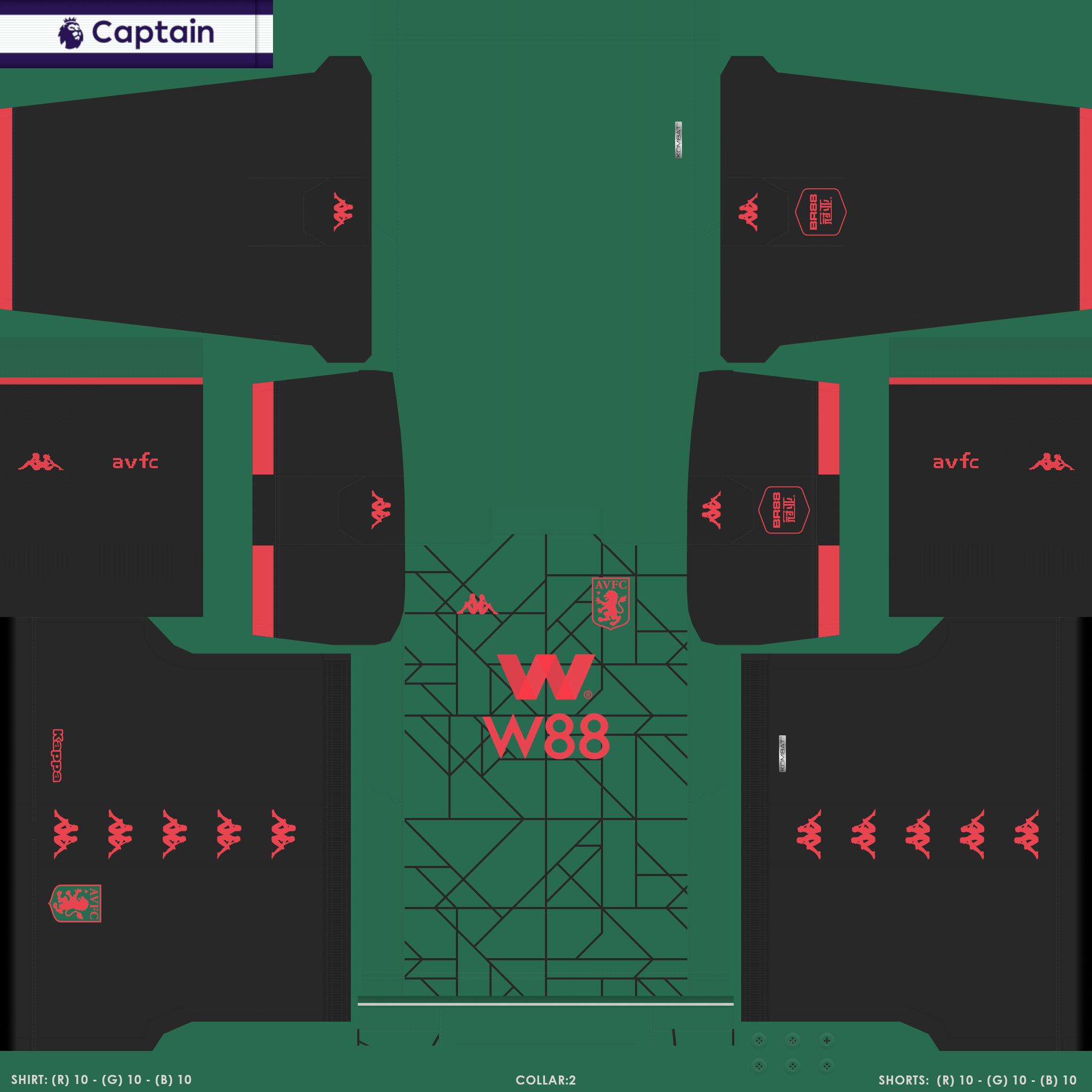 ENG 1 AVFC 3 PES Premier League Kits Pack 2019 2020