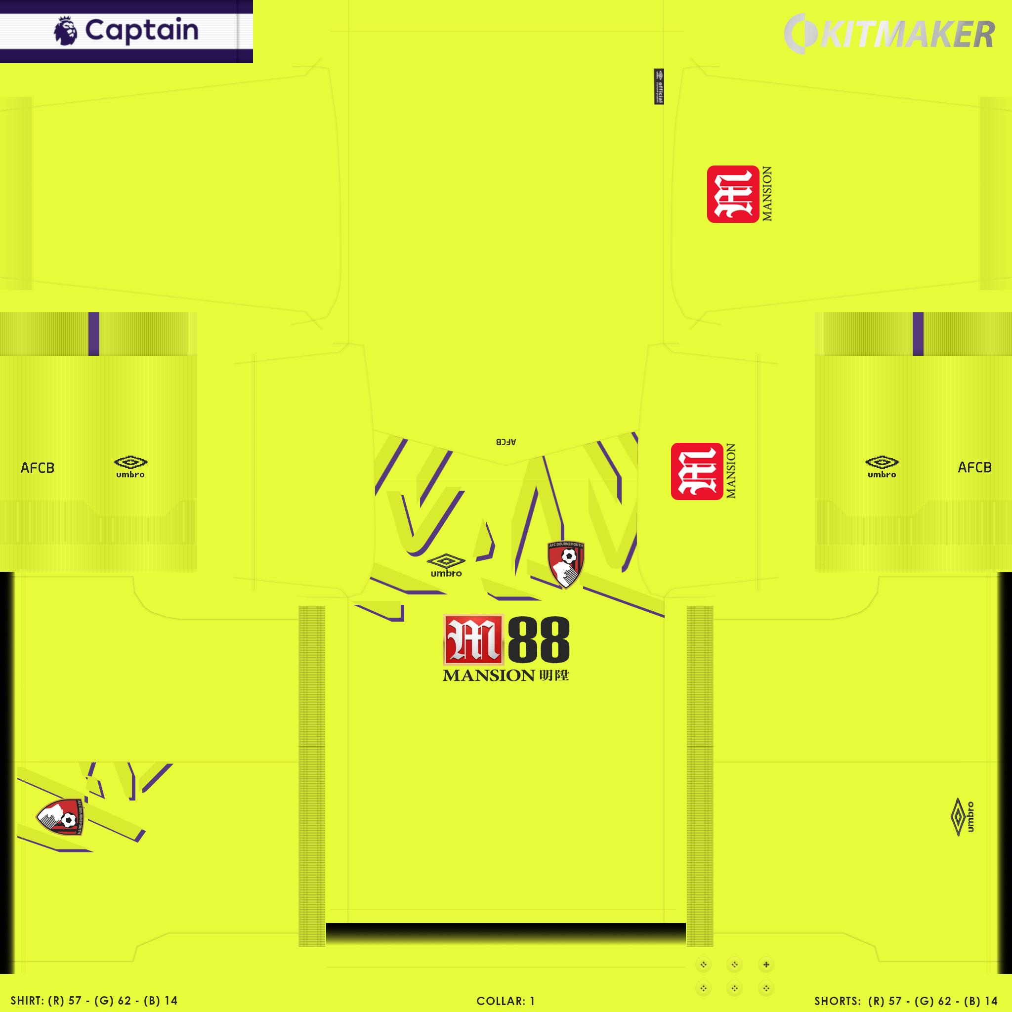 ENG 1 BOU 4 PES Premier League Kits Pack 2019 2020