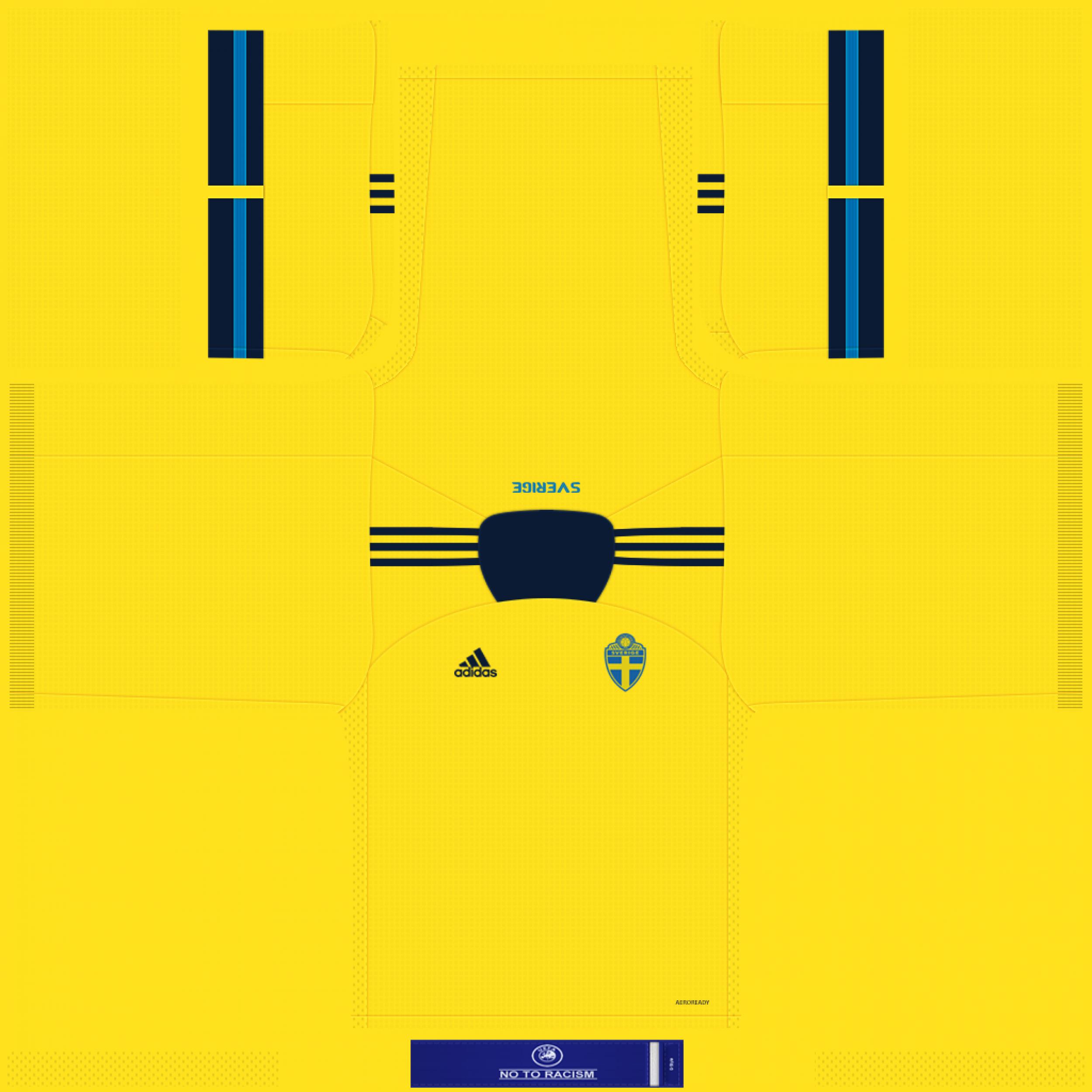 Sweden Home Kits 2500x2500 Kits 8211 Sweden National Team 8211 Euro 2020