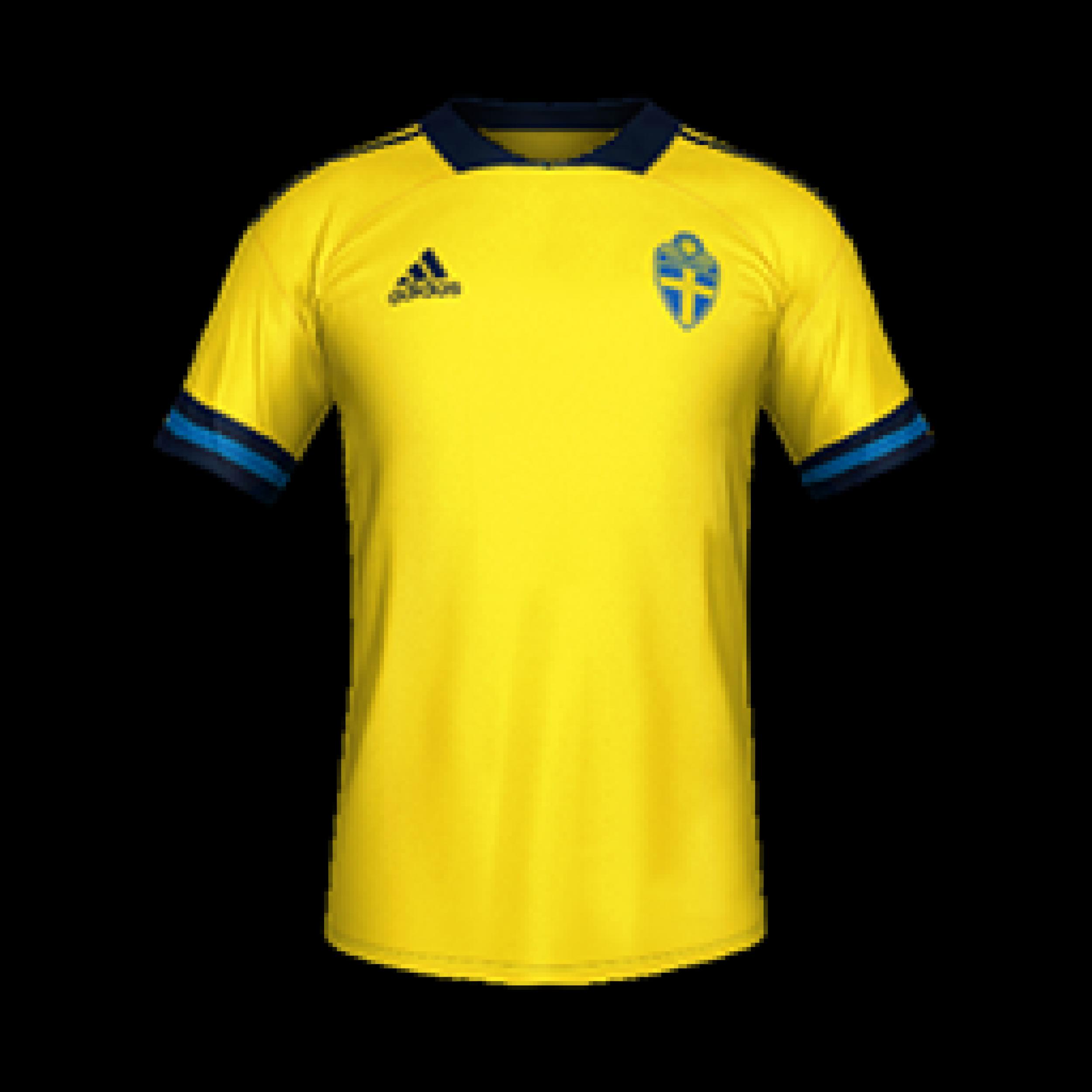 Sweden Home MiniKits 2500x2500 Kits 8211 Sweden National Team 8211 Euro 2020